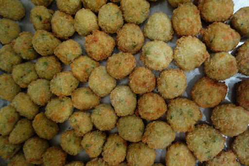 Crispy Risotto and Vegetable Pesto Arancini