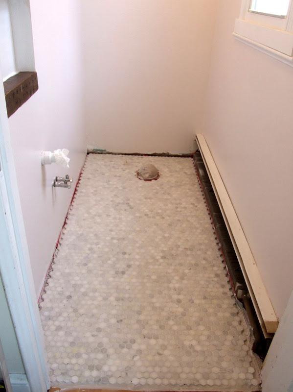 grout haze on marble tile floor