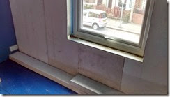insulation board and window detail
