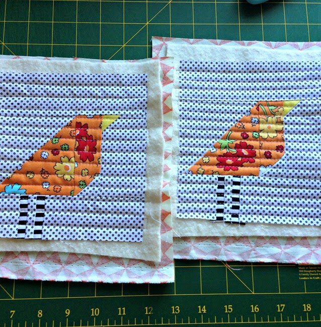 Wonky Birds Quilted