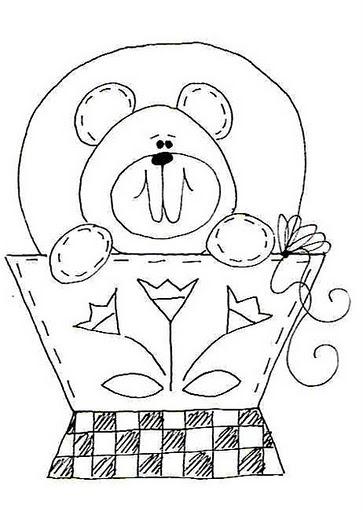 urso nenhum vaso-Riscos-Desenhos-pintura-FRALDAS-bebe [2]. jpg