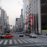 main shopping street in ginza tokyo in Tokyo, Tokyo, Japan