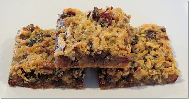 Coconut Lime Cranberry Pecan Bars