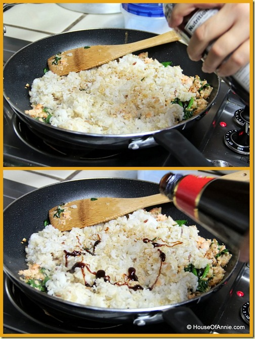Frying and seasoning rice