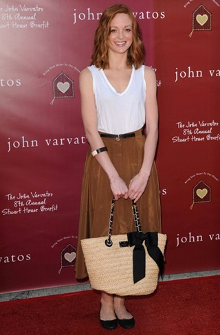 Jayma Mays Tote Bags Straw Tote _aVpQrn3fVEl
