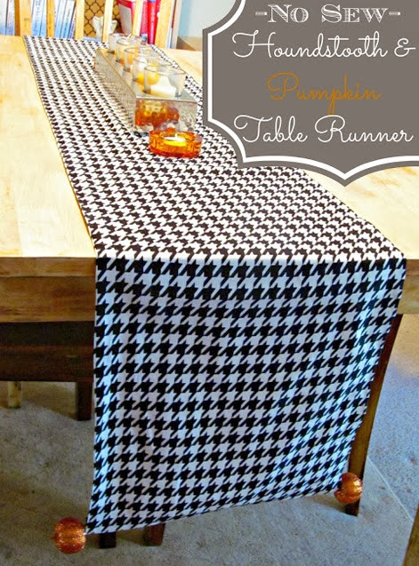No Sew Table Runner by Its Always Ruetten