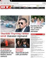 Screenshot of Danske Nyheder