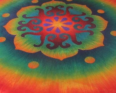 Mandala in Arbeit