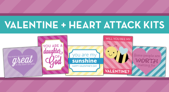 LDS Young Women Heart Attack Valentines Free Download