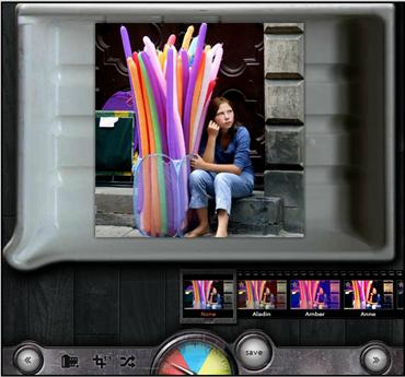 Tela de edição de efeitos do Pixlr-o-matic