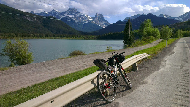 Riding from Calgary to Banff