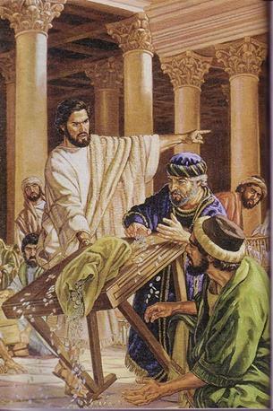 Jesus expulsa vendilhões