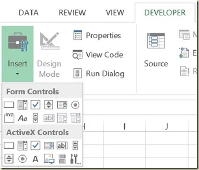 Form Controls in Excel - Select Form Control