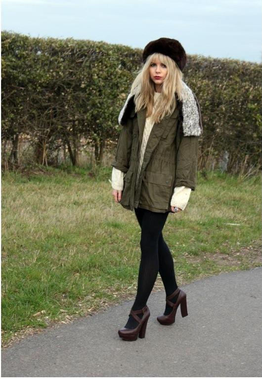 Faux Fur Collar Utility Jacket, £48, Dorothy's Wardrobe