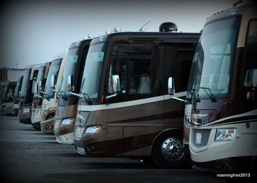 New motorhomes ready for delivery