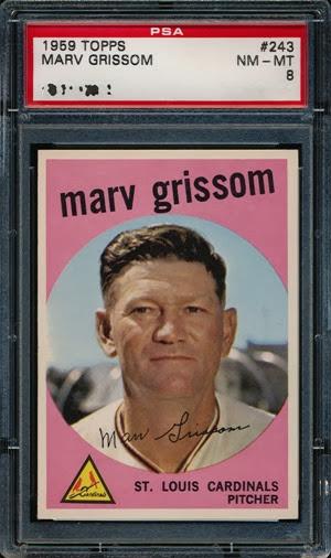 1959 Topps 243 Marv Grissom 1