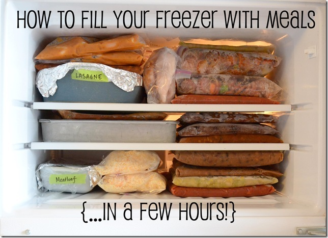 full freezer with words