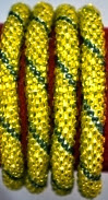 Rollover Bracelets  lemon yellow with grey strip