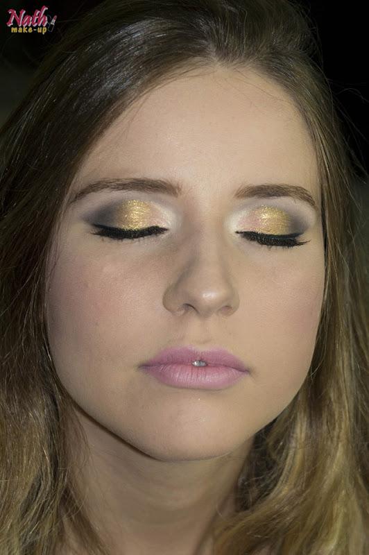 sombra dourada boca rosa