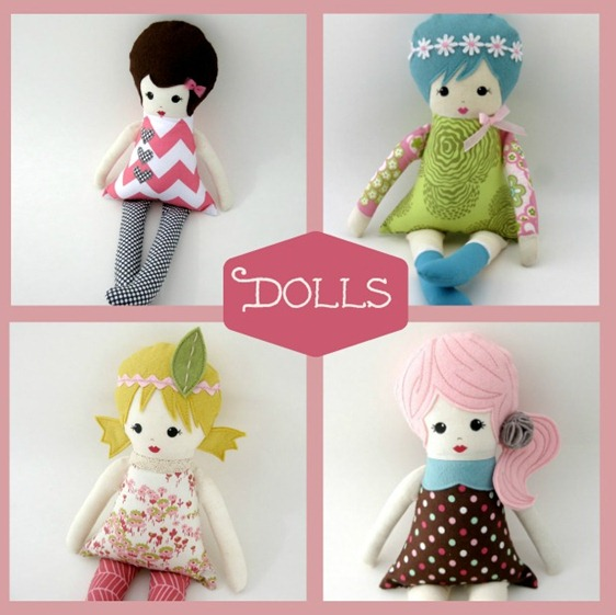 Rag Dolls by April Foss on Etsy