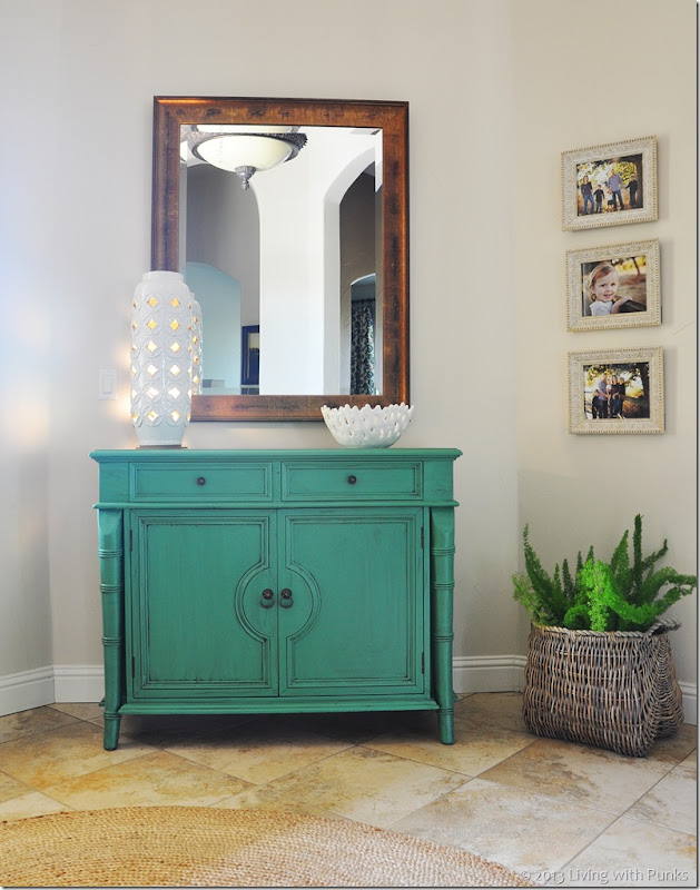 DIY Cabinet makeover using enamel paint and glaze