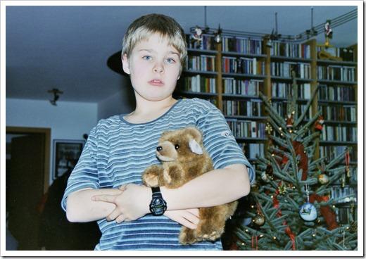 1999_Romy Weihnachten mit Bär