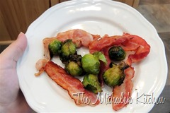 Bacon Brussel Sprouts breakfast - heart
