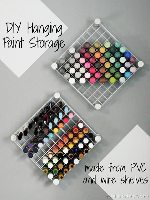 DIY Hanging Paint Storage