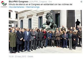minuta de silenci catastròfa de germanwings EAJ Govern Basco