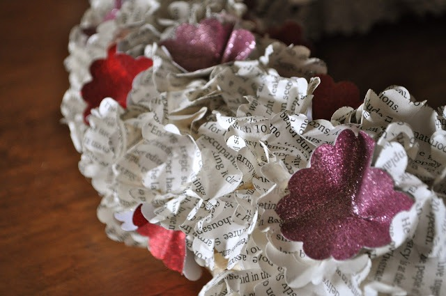 Book Page Wreath by Make Life Lovely