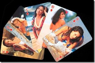 bikini model playing cards