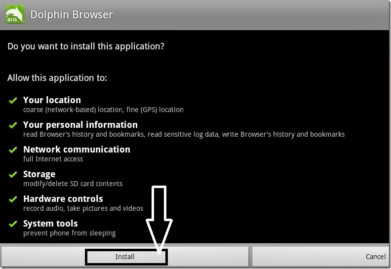 dolphin browser installation