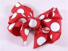 bowrista polka dot bow