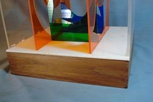 Lucite numeral sculpture