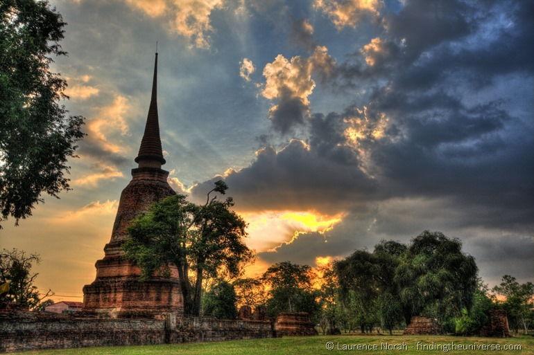 Ayutthaya sunset HDR wat