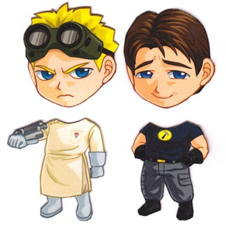 Mix and Match Magnets from Cosplay Scrample - Dr. Horrible & Captain Hammer