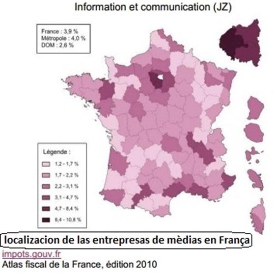 Mapa dels mèdias parisencs