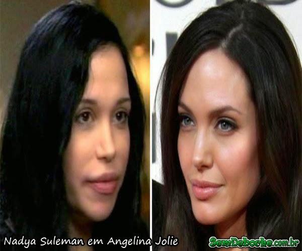 Nadya Suleman em Angelina Jolie