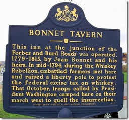 Bonnet Tavern marker in Bedford County, PA (Click any photo to Enlarge)