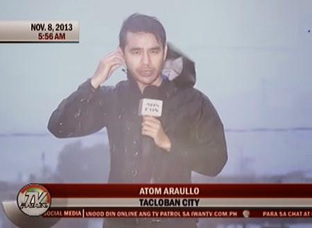 Atom Araullo during Yolanda coverage