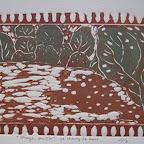 """Série """"Ubaye secrète"""" gravures sur bois tirage numéroté sur 3      70€ Il a été réalisé précédemment 3 tirages avec rehauts d'aquarelle"""