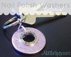 Nail Polish Washer Keychains[6]