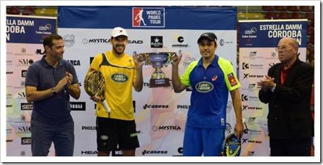 Juan Martín Díaz y Fernando Belasteguin vuelven a reinar en el Estrella Damm Córdoba Open 2014.