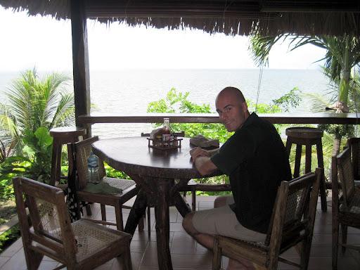 Lunch on Playa Santo Domingo, Ometepe, Nicaragua