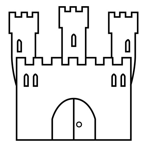 Dibujos de castillos para colorear - Castillos para ninos de infantil ...