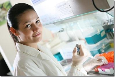 Sarah in Lab