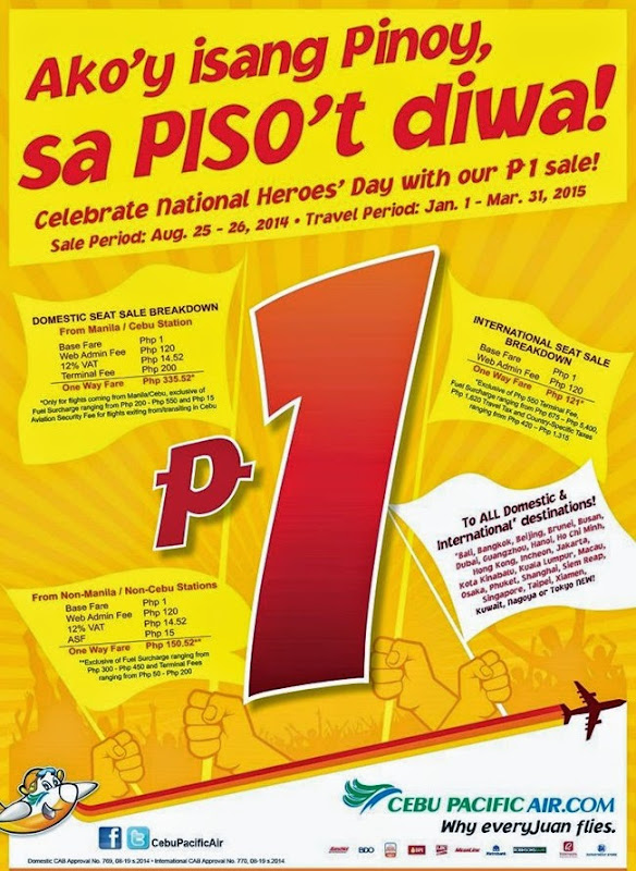 CebuPac National Heroes Day Sale