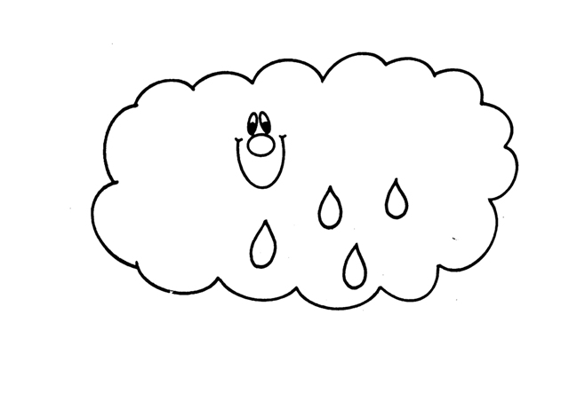 Dibujos para pintar nubes con lluvia - Imagenes de nubes infantiles ...