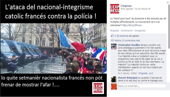 La polícia contra la dreita nacionalista francesa 3