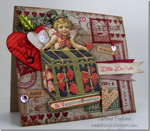 LeAnne Pugliese WeeInklings Vintage Valentine Card Stampin